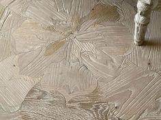 Holz Parkett Fußboden Simon mit Blumen Motiv