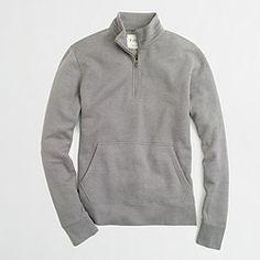 Factory fleece half-zip hoodie