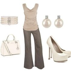 simple creme work outfit