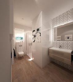 Wnętrza, Łazienka dolna - Oto wizualizacja naszej dolnej łazienki. Płytki Opoczno Pret a Porter.