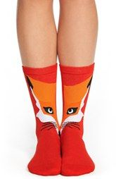 kate spade new york kate spade new york 'fox' trouser socks available at Trouser Socks, Trousers, Fox Socks, Fox Collection, Foxy Brown, Cute Fox, New York S, Fox Design, Kawaii Girl