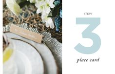 How to Style a Wedding Table // By Cassandra LaValle // Item Three: Place Card