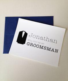 Will You Be My Groomsman Cards Groomsman Note by SweetiePeonies, $2.50