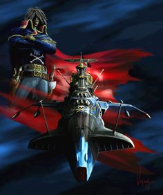 From Captain Harlock Space Pirate Space Pirate Captain Harlock, Ulysse 31, Japanese Video Games, Captain My Captain, Galaxy Express, Mecha Anime, Hobby Photography, Super Robot, Great Tv Shows