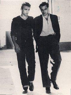 James Dean and Leonard Rosenmav ... James was so handsome !