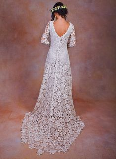 ivory-or-white-lace-dress-for-bohemian-wedding-dresses