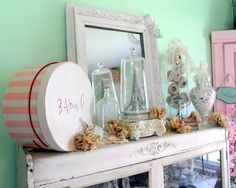 Beautiful vignette from Shabby French Cottage