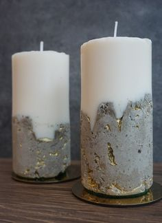 Good Totally Free Soy Candles concrete Popular Fragrant soy candles usually are expressed by employing soy soy wax which is a hydrogenated soybean Handmade Candles, Diy Candles, Soy Wax Candles, Scented Candles, Pillar Candles, Candels, Candle Art, Concrete Crafts, Kintsugi