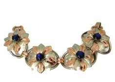 Kreisler Blue Moon Glow Flower Bracelet Vintage – Premier Estate Gallery