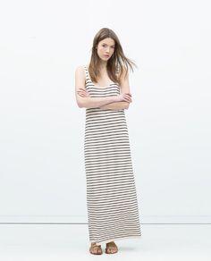 Image 1 of STRIPED KNIT DRESS from Zara