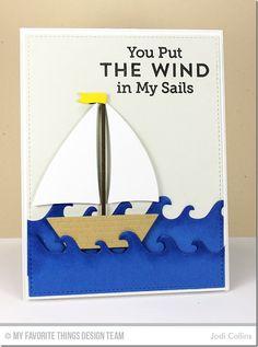 Making Waves Die-namics, Sailboat Die-namics, go overboard: MFT, nautical, summer