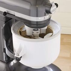 Soooo, this exists... KitchenAid Ice Cream Maker Attachment. I neeeeeed this!