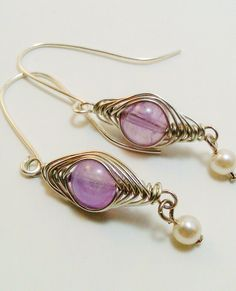 From The Silver Findings on Etsy http://www.etsy.com/listing/92681752/silver-plated-wire-wrapped-amethyst