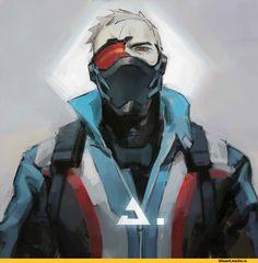 Soldier 76,Overwatch,Blizzard,Blizzard Entertainment,фэндомы,Reaper (Overwatch),Overwatch art,LKiKAi