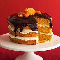 Orange-Carrot Cake with Chocolate Ganache From Better Homes and Gardens, ideas and improvement projects for your home and garden plus recipes and entertaining ideas.