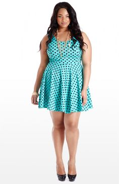 plussizeebony: Anita MarshallinUs and Femme Dot Print Dress