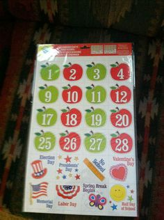 2 Sets Apple Calendar Days Icons Great FOR Teachers Daycares Homeschoolers   eBay