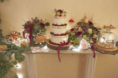 wedding dusty rose aurora red sweet table