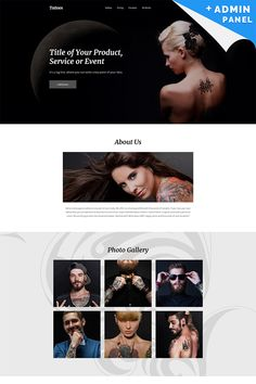 Tattoo Salon Responsive Landing Page Template #59253