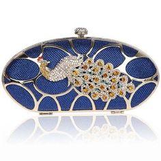 KAXIDY - Kaxidy Elegant Ladies Peacock Crystal Diamant Clutch