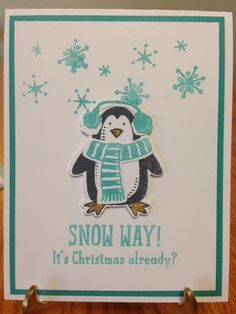 Snow Place Stamp Set; Snoiw Friends Framelits; This little penguin just tickles my fancy!!   www.jansstampingcreations.com