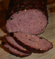 Spicy Pepper Smoked Summer Sausage Recipe   Prep Time: 48 hours   Cook Time: 6-8 hours  Author: Kwin Wilkinson  Ingredients:  2 lbs ground beef (For best results use 85/15 - we have also used 93/7 but it ends up a tad bit drier) 3 Teaspoons curing salt