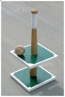 Baseball Cupcake Stand!  So cute for a boy's baseball themed party!