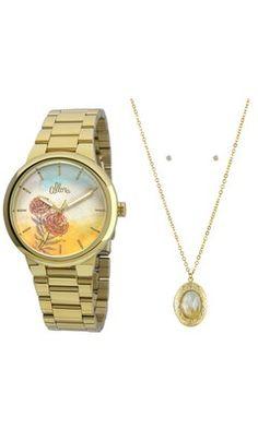 Relógio Allora c/ Colar e Brincos AL2035FBJ/K4L