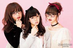 "(Image 1/2) Miyuki Watanabe & Kanno Yui & Lisa Nakamura ""cute sweet"" and chest Kyun to 3 shot glasses appearance"