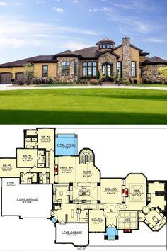 5 Bedroom House Plans, Floor Plan 4 Bedroom, Basement Floor Plans, Ranch House Plans, Craftsman House Plans, Walkout Basement, Ranch Style Floor Plans, Basement Flooring, Craftsman Style