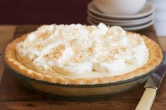 Perfect for an after-dinner dessert, this coconut cream pie tastes as good as it looks.
