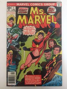 First told origin of Carol Danvers as Ms Marvel. Carol Danvers will be Captain Marvel in the soon-to-be-released Marvel movie. Marvel in fine to very fine condition. Very nice complete copy with no missing pages and nothing clipped out. Carol Danvers Captain Marvel, Ms Marvel Captain Marvel, Miss Marvel, Marvel Comics, Marvel Comic Books, Comic Book Heroes, Comic Books Art, Comic Art, Star Comics
