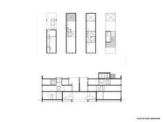 KAAN-Architecten-Borneo-Sporenburg-Amsterdam-9 Amsterdam Architecture, Architecture Plan, Narrow House Plans, High Building, Urban Fabric, Red Books, New Paris, Master Plan, How To Plan