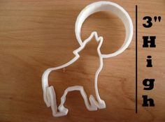 Measures high for small and for the large option. Wolf howling at the moon cookie cutter. Great for fondant and cake decorating or simply making unique cookies. A portion of the moon was removed from the back so when you cut into the. Wolf Cake, Moon Cookies, Howl At The Moon, Wolf Howling, The Ordinary, Cookie Cutters, Fondant, Cake Decorating, Etsy Seller