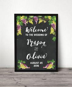 Custom Hashtag Wedding Sign