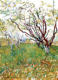 Vincent Van Gogh - Post Impressionism - Arles - Verger en fleurs - 1888