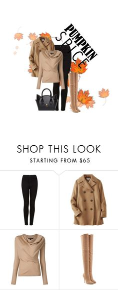"""""""Pumpkin Spice"""" by alondrafamilia ❤ liked on Polyvore featuring Topshop, Uniqlo and Balmain"""