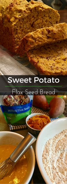 This sweet potato flax seed bread is full of sweet nutrition! Bake it as a gift for someone or enjoy warmed for breakfast in the morning. | Clearly Organic Nutritionist