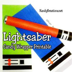 Print these Lightsabers candy wrapper printables out for your next Star Wars party. Your Sweet Tart candies will turn into the best treats in this galaxy and every other one.