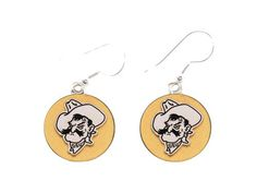 Oklahoma State Cowboys Two Tone Gold Silver French Hook Earrings