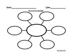 Graphic Organizer - Brainstorming Web Check out www.NYHomeschool ...