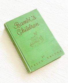 "Vintage ""Bambi's Children"" by Felix Salten, 1939 Publication, Olives and Doves"