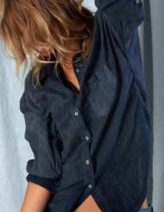Denim shirt - so sexy All Things Stylish