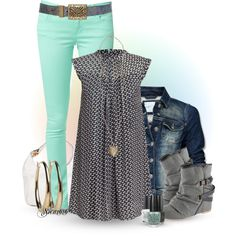 Turquoise Jean Outfit