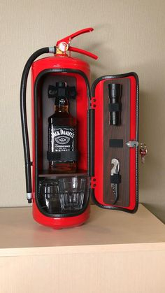 Man Cave Refrigerator Ideas, Firefighter Room, Jerry Can Mini Bar, Whiskey Dispenser, Car Furniture, Mini Bars, Scrap Metal Art, Home Gadgets, Metal Projects
