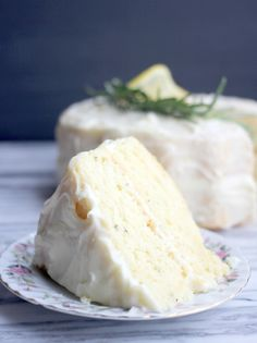 Fluffy Lemon-Rosemary Layer Cake with Lemon Cream Cheese Frosting- Baker Bettie Spicy Recipes, Baby Food Recipes, Mexican Food Recipes, Baking Recipes, Dessert Recipes, Desserts, Rosemary Recipes, Lemon Cake Recipes, Citron Cake