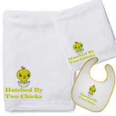 Hatched By Two Chicks Baby Bath Gift Set by BabysPreciousGifts, $25.00