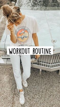Summer Body Workouts, Cheer Workouts, Workouts For Teens, Easy Workouts, Gym Workout Videos, Gym Workout For Beginners, Fitness Workout For Women, Workout Routines, Workout Ideas