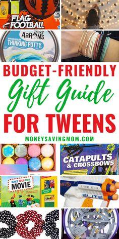 Ultimate Budget-Friendly Gift Guide For Tweens! Here is a great list of inexpensive tween gifts ideas - for both boys and girls!  #tweengift #tweengiftidea #inexpensivetweengift #cheaptweengift #tweengiftguide
