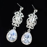 Vintage+Women's++Earrings+Zircon+Diamond++Silver+Earring+For+Wedding+Bridal+–+USD+$+31.98